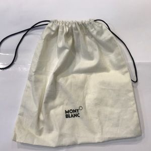 Mont Blanc White Cotton Dust&Storage Bag.8 x 7 1/2